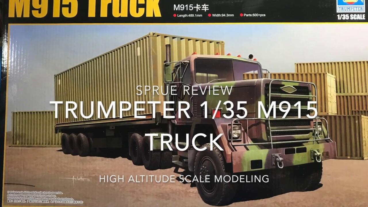 Trumpeter 1/35 M 915 truck & Trailer