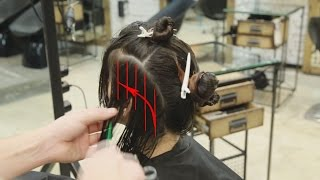 layers haircut with slicing technique