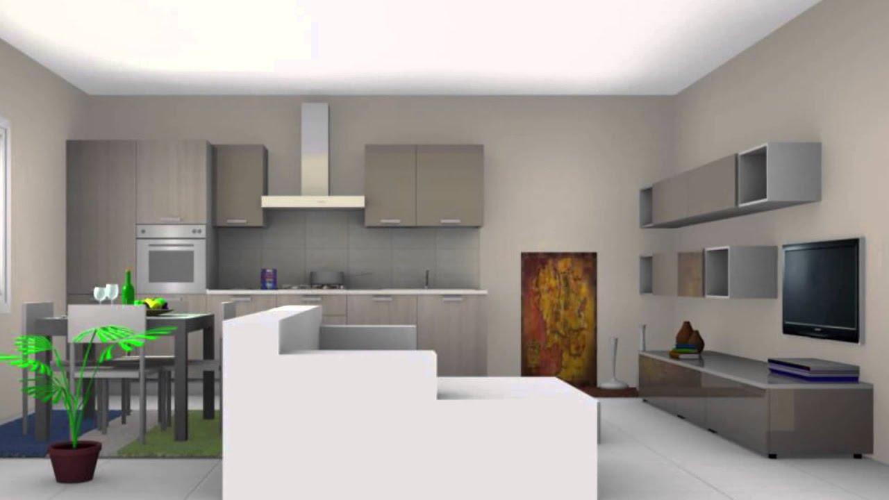 progetto cucina  zona living  DEMARTINI MOBILI  YouTube
