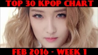 Video TOP 30 KPOP CHART - FEBRUARY 2016 WEEK 1 (6 NEW SONGS) download MP3, 3GP, MP4, WEBM, AVI, FLV Januari 2018