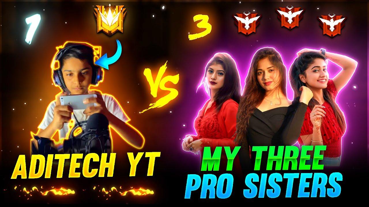 Download Me Vs My 3 Pro Sister's ❤️🤯