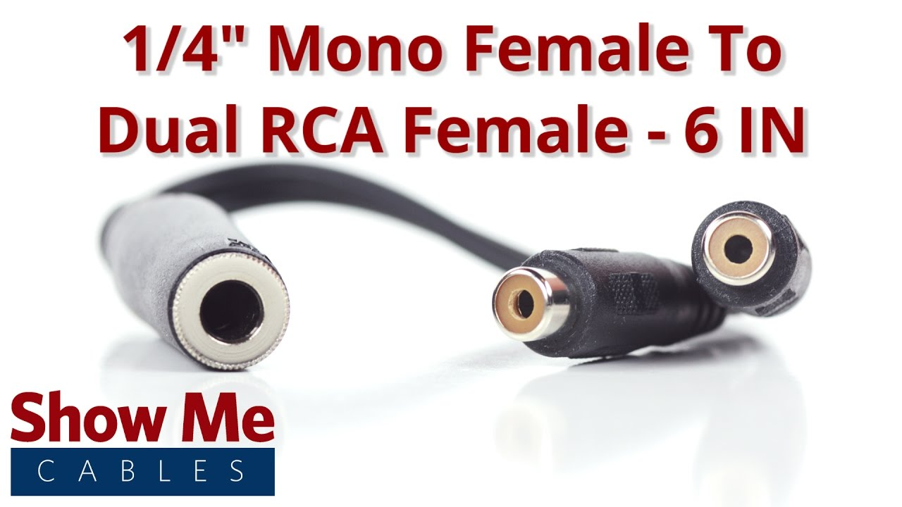 1 4 Inch Mono Female To Dual Rca Adapter 27 140 055 Youtube Stereo