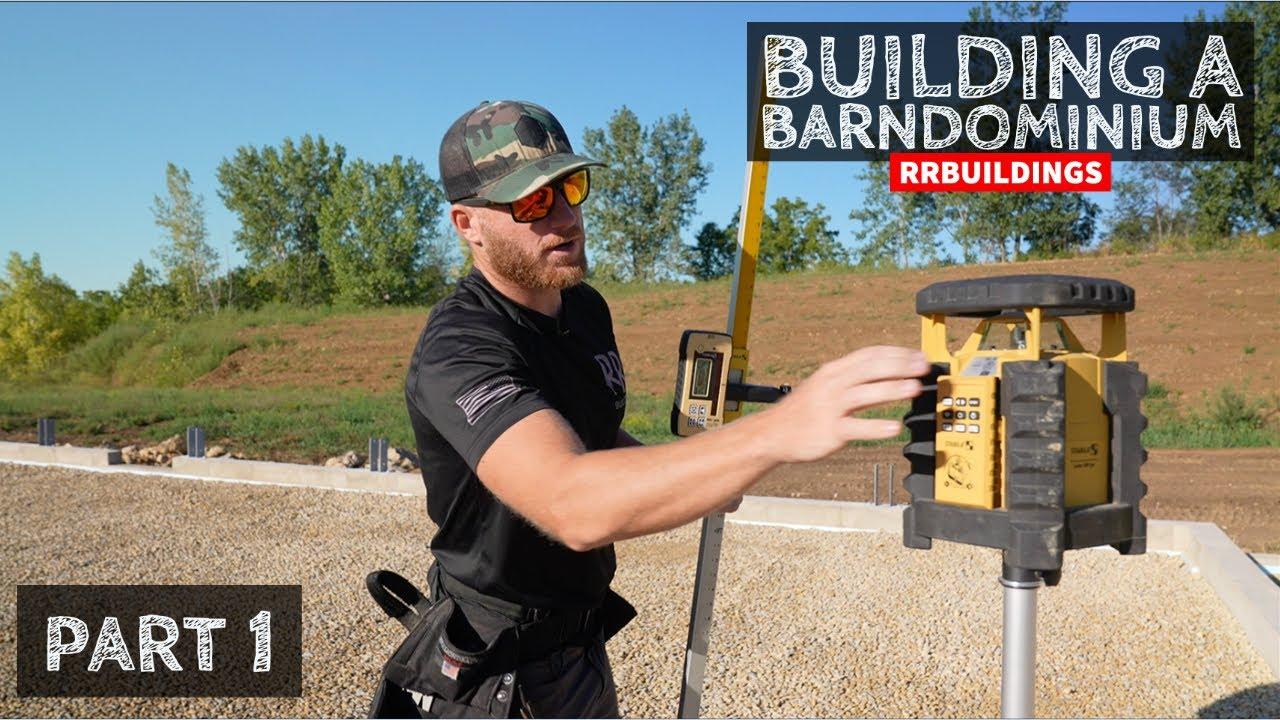 Building a Barndominium 1: Foundation Layout and Laminated Columns
