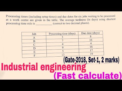 Gate-2018 ME Industrial engineering set -1 quetion paper solution,