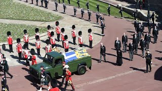 video: No uniforms, but Royal family show military ties with medals at Prince Philip's funeral