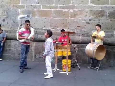Recycled instruments band, Guadalajara, Mexico