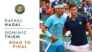 Rafael Nadal vs Dominic Thiem - Road to the final I Roland-Garros 2018