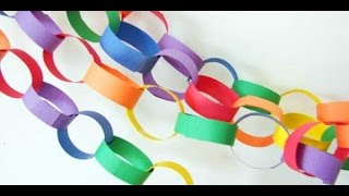 Paper Decorations: How to make Easy Paper Chains - Silent Killer