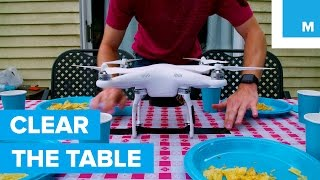 Can a Drone Clear the Table?