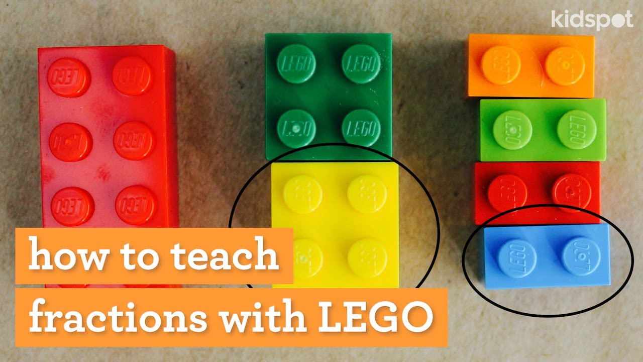 Maths activity: How to teach fractions using Lego - YouTube