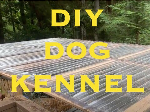 DIY Building Outdoor Chain Link Dog Kennel Roof