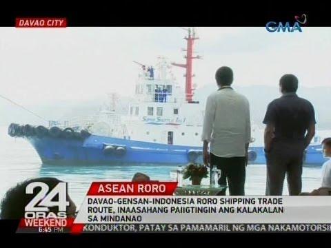 24 oras: Davao-Gensan-Indonesia RORO shipping trade route, paiigtingin ang kalakalan sa Mindanao