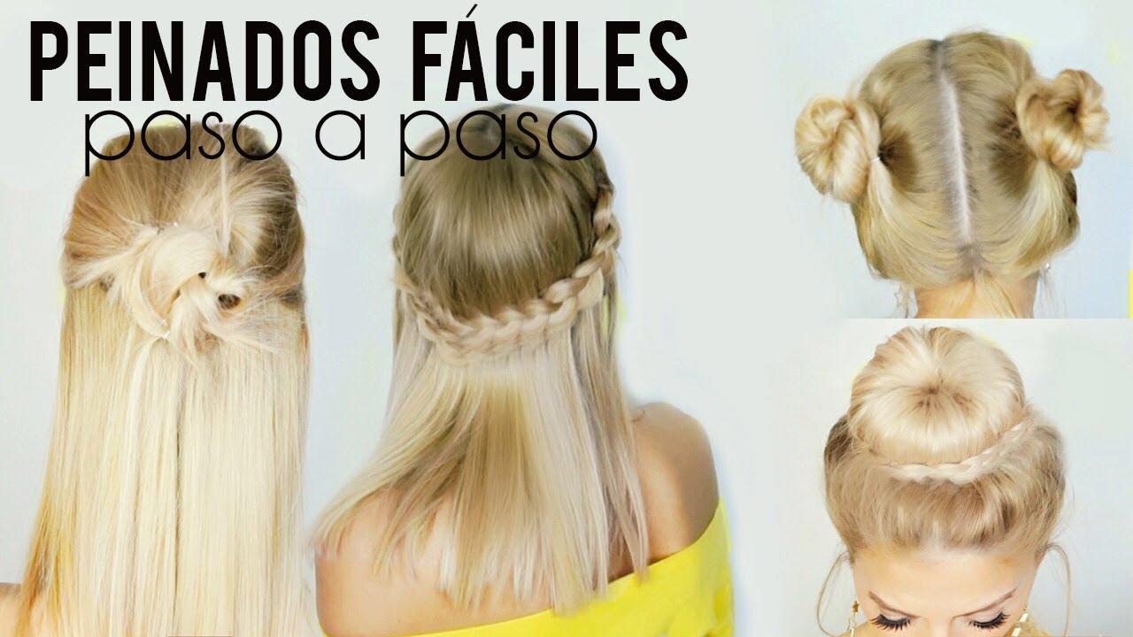 Peinados f ciles y r pidos para escuela trabajo paso a - Peinados faciles paso a paso ...