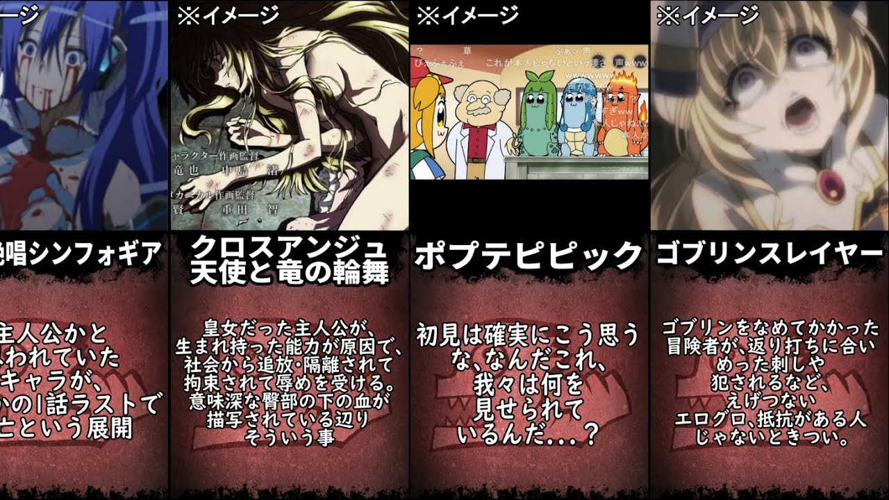 【ネタバレ注意】一話目が衝撃的すぎるアニメ