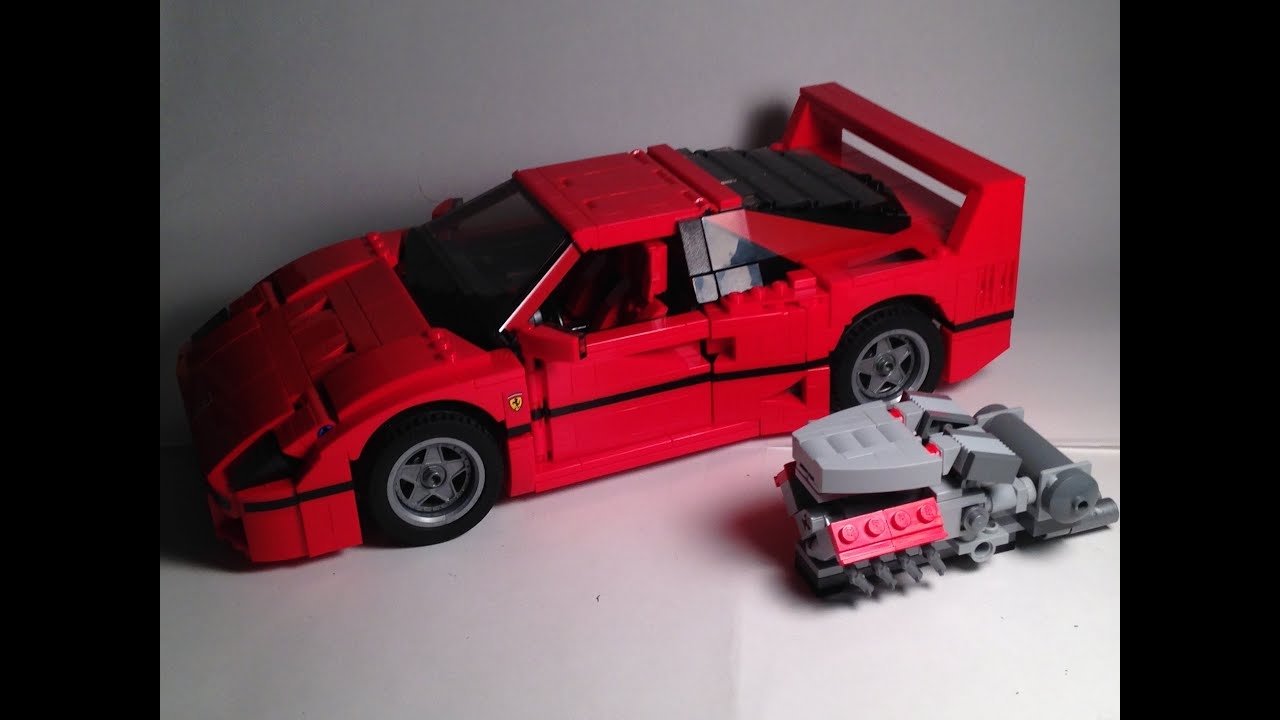 not custom lego reviews ferrari f40 youtube. Black Bedroom Furniture Sets. Home Design Ideas