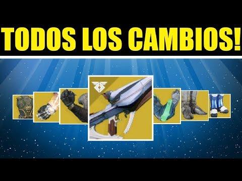 Destiny 2 - NOTAS DEL PARCHE! BUFFS EXÓTICOS! LANZA POLARIS Y REINICIO SEMANAL!