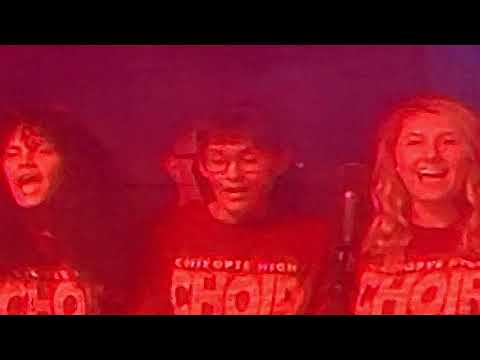 Chicopee High School Choir onstage with Foreigner