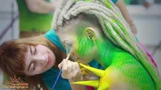 видео  Профессиональный боди арт на теле