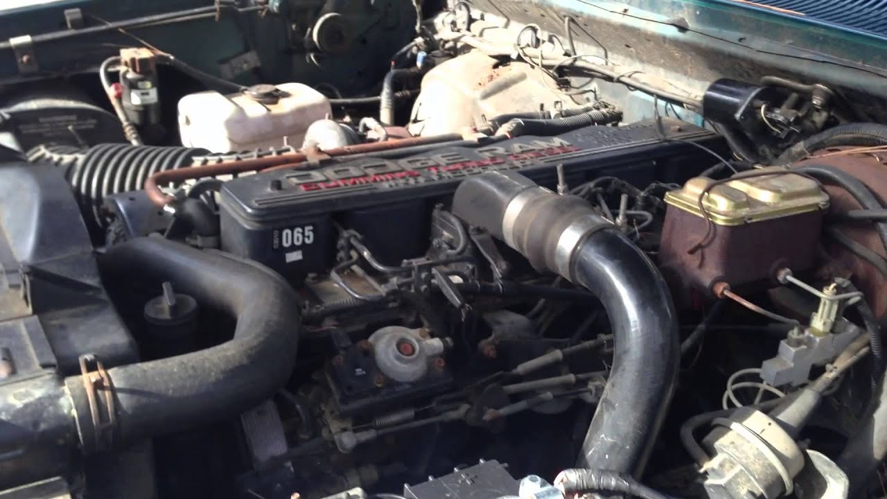 maxresdefault 1993 d250 dodge cummins turbo diesel youtube 92 dodge d250 wiring diagram at crackthecode.co
