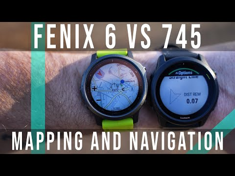 Garmin Fenix 6 vs Forerunner 745 - Routable vs Breadcrumb Maps - How to Create and Follow a Course!