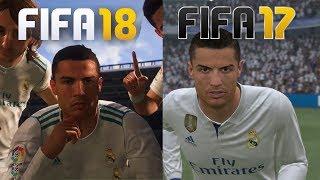 COMPARACIÓN DE LAS CARAS DE JUGADORES FIFA 18 VS FIFA 17 (Ronaldo, Nainggolan, Gabriel Jesus...)