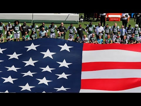 NFL Players, Owners, & Coaches Show Unity During National Anthem   Week 3