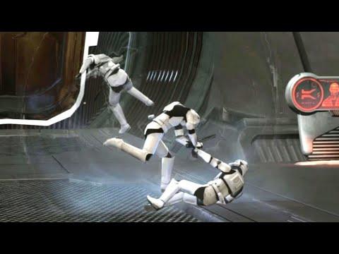 Star Wars: The Force Unleashed II - NPC Wars & Euphoria Ragdoll Physics |