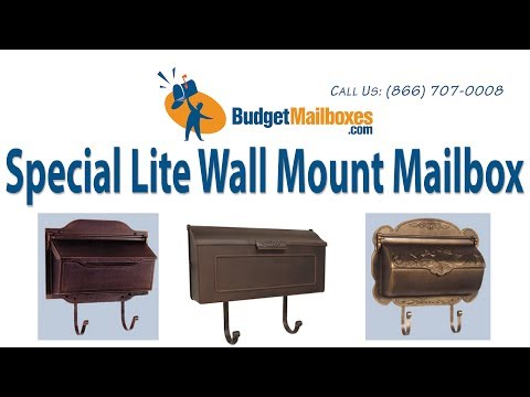 Budget Mailboxes | Special Lite Horizontal Wall Mount Mailbox