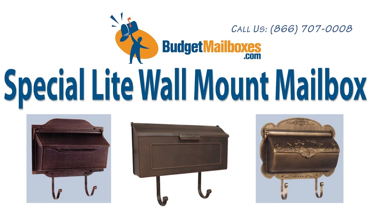 budget mailboxes special lite horizontal wall mount mailbox