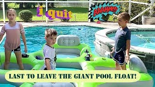 Last to Leave the Pool Float Wins!! Ridiculously Fun!!