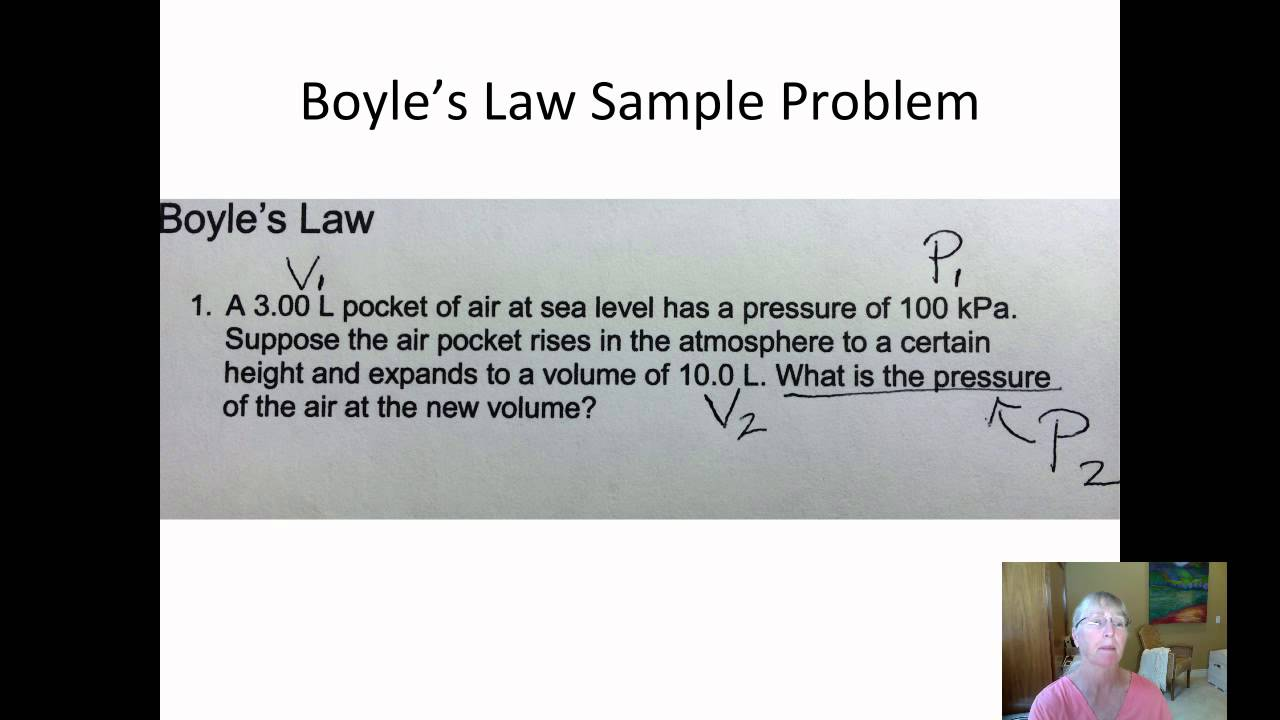 boyles law Boyle's law pressure is the amount of force exerted on one unit of area the example of an ocean diver should make the concept clearer: the greater the depth the diver reaches, the greater the pressure due to the weight of the overlying water.
