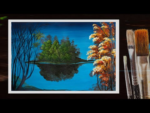 Nature drawing / How to draw Landscape / scenery of beautiful nature..step by step / Easy visual Art