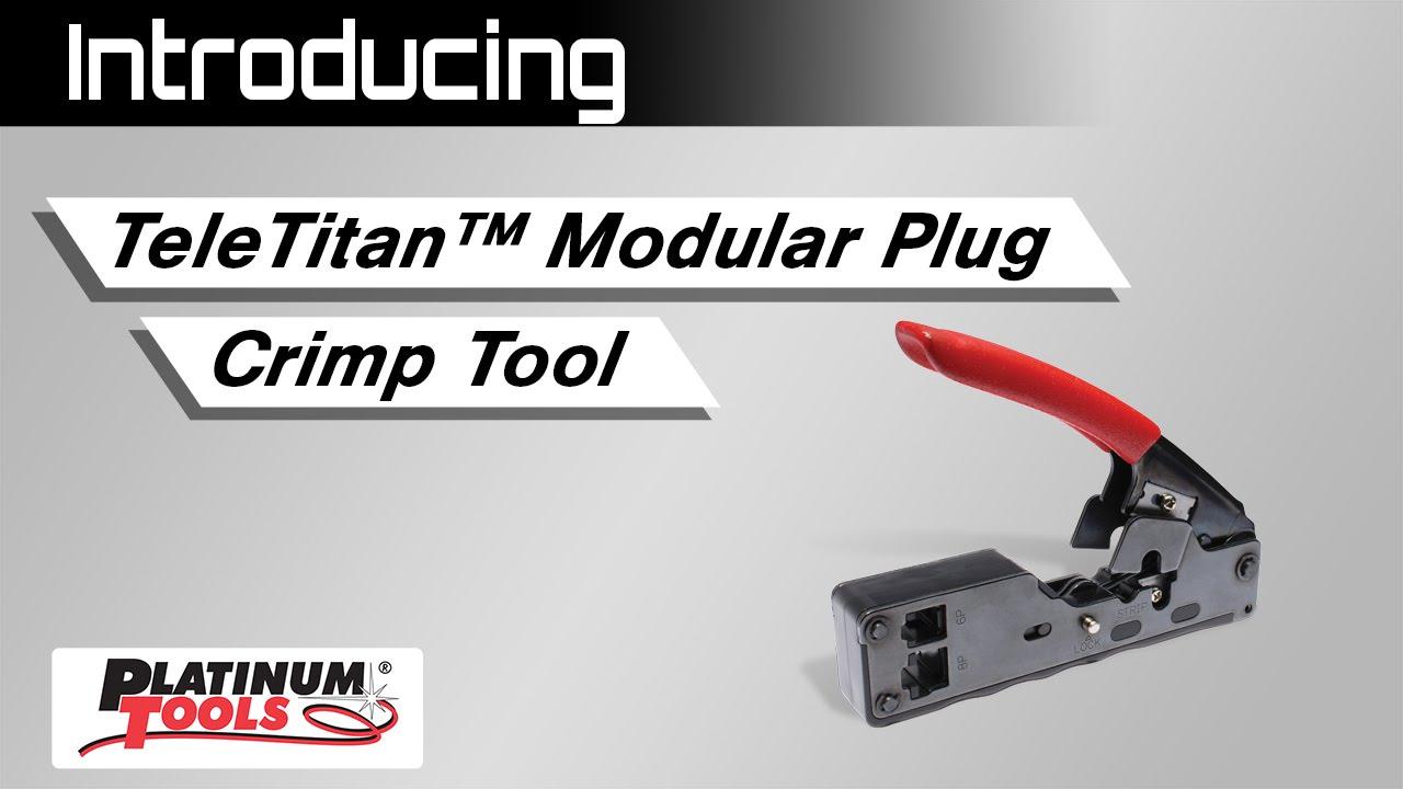 Gardner Bender Modular Crimp Tool Kit Connector Plugs for sale online