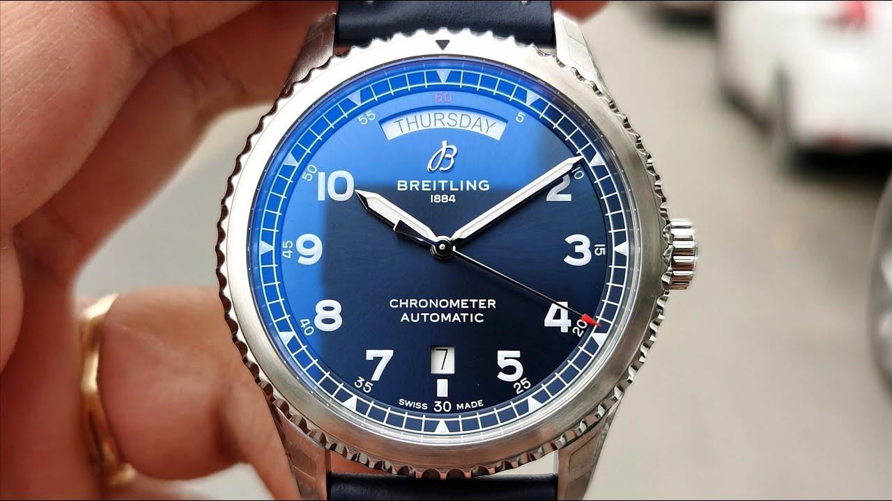 [Nam Tính] Breitling Navitimer 8 Aviator Day Date Blue A45330101C1X5 | ICS Authentic