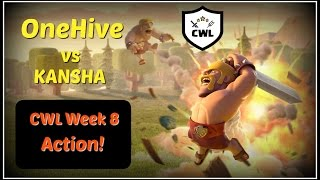 OneHive vs KANSHA Clash of Clans CWL Action Season 2 Week 8