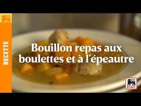 Bouillon repas aux boulettes et à l'épeautre