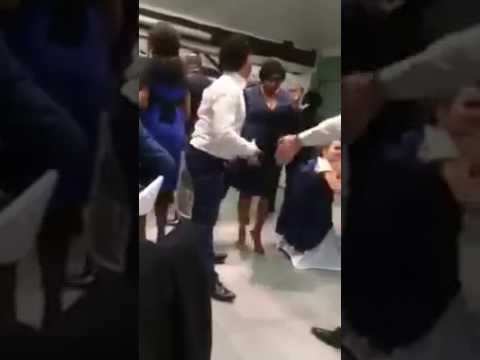 EPIC: Whites boys dancing in an African wedding