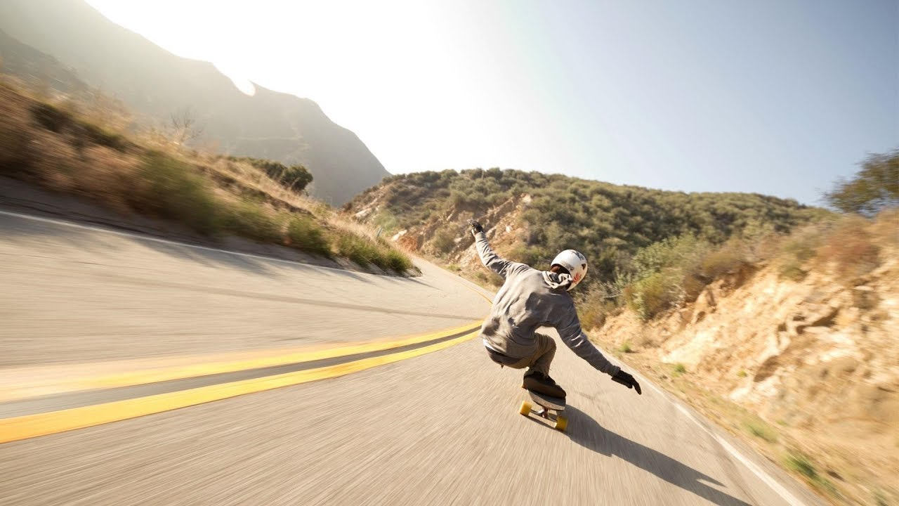 amazing downhill longboarding by