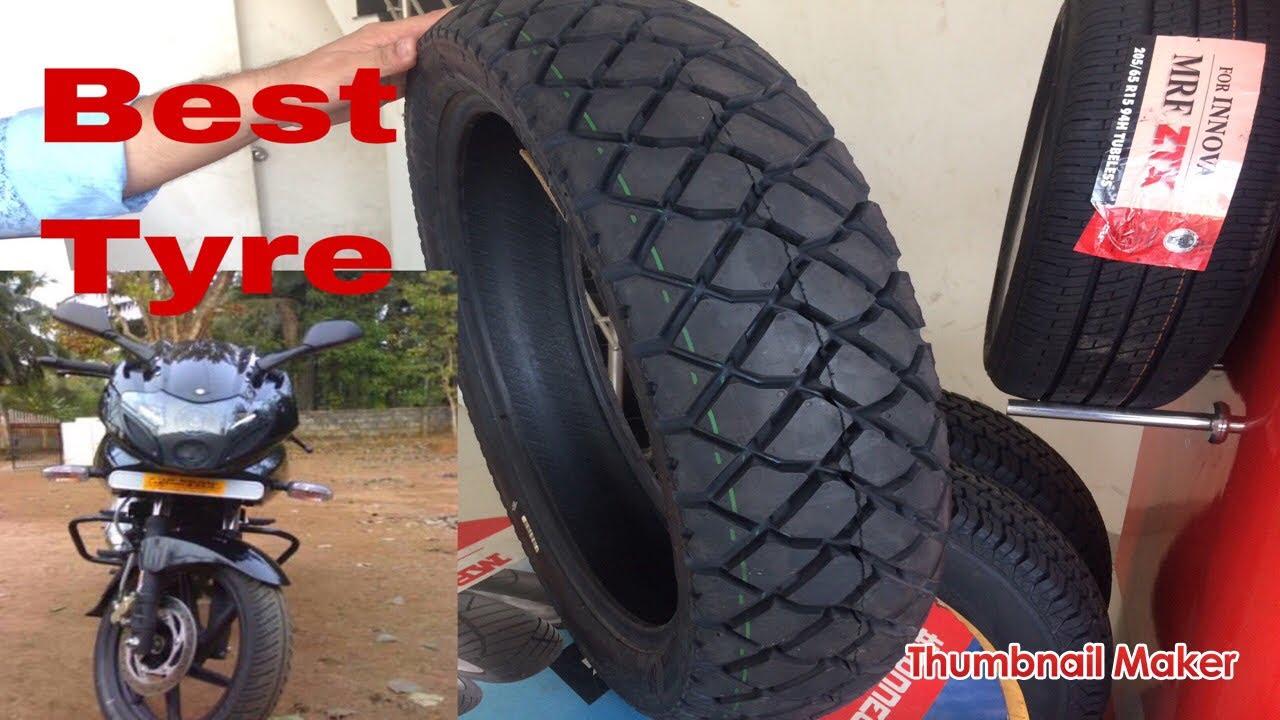 best tyre for pulsar 220 mrf mogrip meteor 120 80 17 youtube rh youtube com