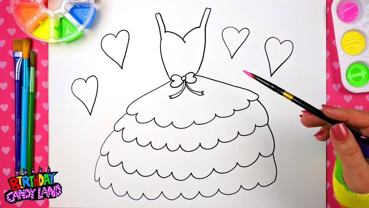 drawing for kids to learn how to color draw and paint a