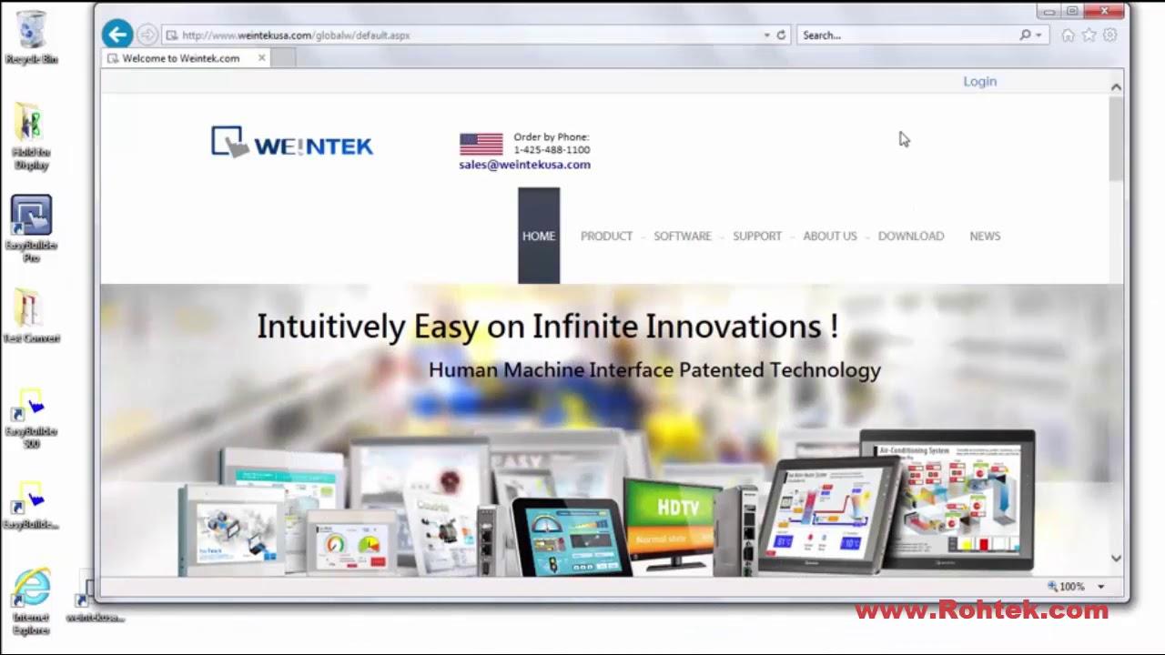 Easybuilder pro weintek hmi programming tutorial by rohtek youtube.