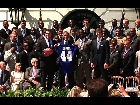 President Obama Honors the Super Bowl XLVI Champion New York Giants