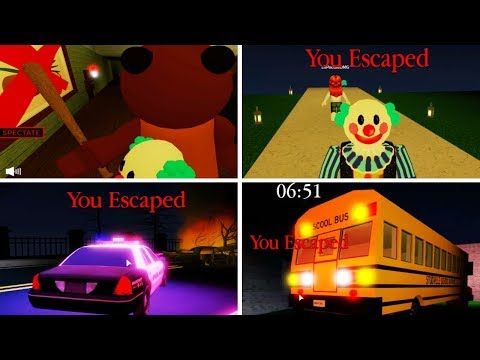 ROBLOX PIGGY COCOA ALL ENDINGS / ALL CHAPTERS 1 2 3