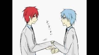 【手書き】赤司と黒子でスタイリッシュいちまんじゃく【黒子のバスケ】