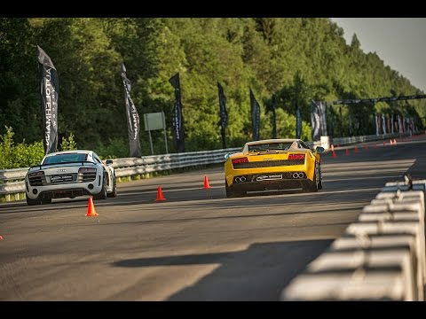 Porsche 991 Turbo, Audi R8 GT, Lamborghini Gallardo LP560 (Top 3 fastest stock AWD Super car)
