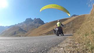 "Parapente free session ""on the road"""