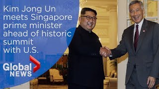 Kim Jong Un meets with Singapore's prime minister ahead of historic summit with Trump