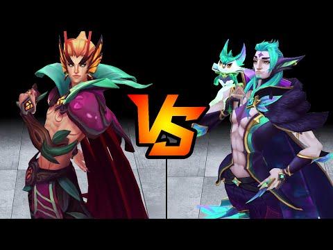 Elderwood Rakan vs Star Guardian Rakan Skin Comparison Spotlight (League of Legends)