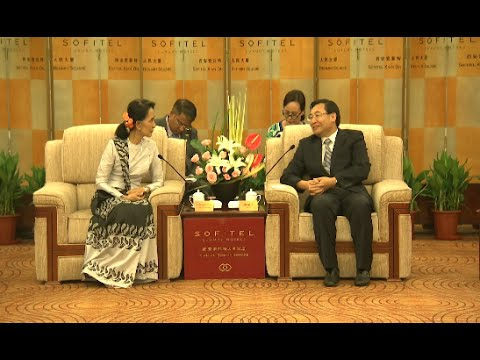 Myanmar's Aung San Suu Kyi Meets with Chinese Provincial Governor