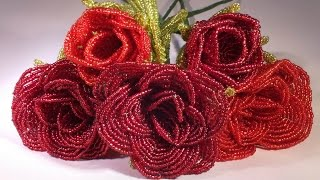 Download Video How to make a rose with beads - Beaded rose tutorial  - French beaded rose MP3 3GP MP4
